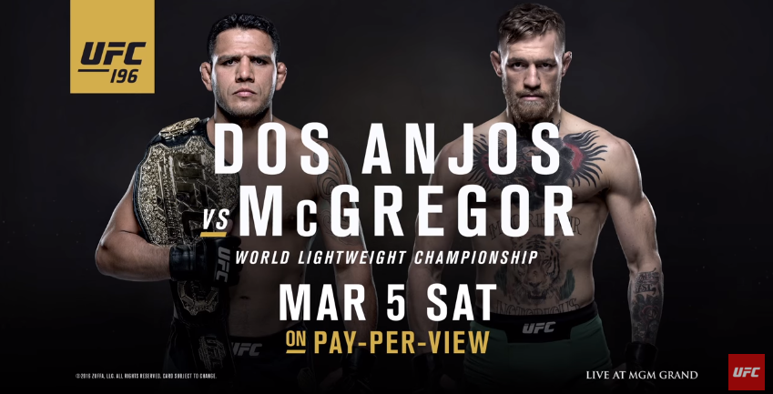 rda vs mcgregor - ufc 196