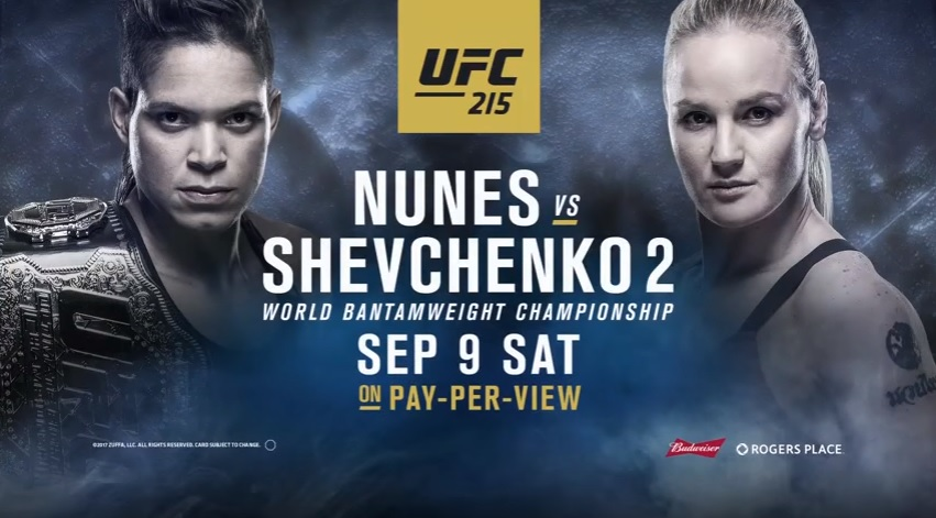 ufc 215 39 nunes vs shevchenko 2 39 live stream et r sultats cette nuit d s 1h00 fr. Black Bedroom Furniture Sets. Home Design Ideas