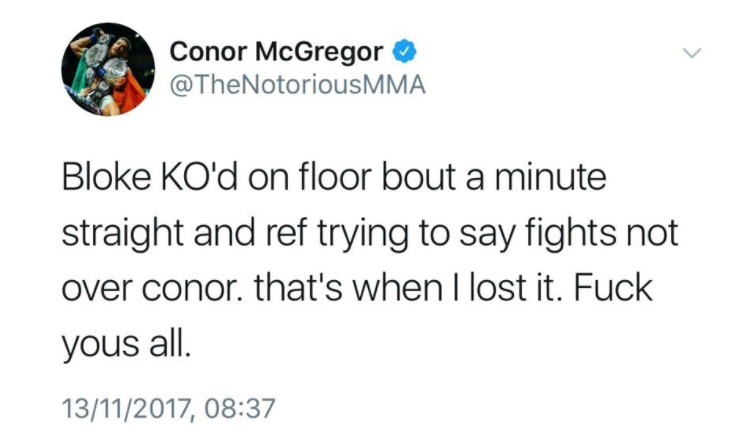 mcgregor tweet ko