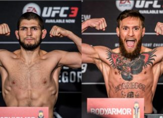ufc 229 khabib mcgregor weight in