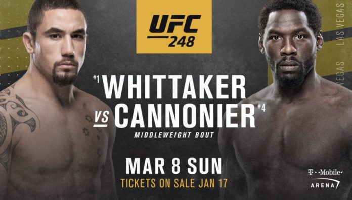 robert whittaker jared cannonier