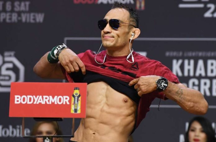 tony ferguson weigh cut